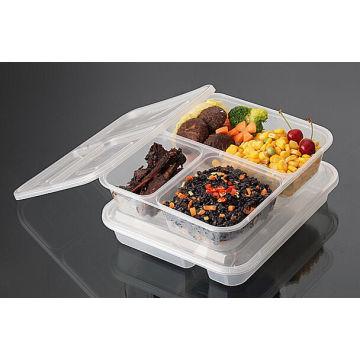 Récipient jetable de nourriture de micro-onde de pp de compartiment de la qualité 2016 de récipient jetable