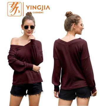 Jualan Hot Off-the-Shoulder Lantern Sleeves T-shirt puncak