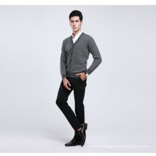 Yak Wool/Cashmere V Neck Pullover Long Sleeve Sweater/Garment/Clothing/Knitwear