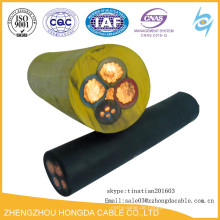 Elektrische Gummilaufkabel für den Einsatz in Bergwerken