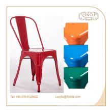 fournisseur de porcelaine style européen pays style café-restaurant en métal chaise latérale