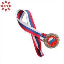 Belle médaille de ruban de soie haute qualité Sport