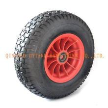 Gummi-Rad 4.00-8 mit Kunststoff-Felge