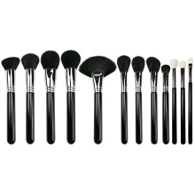 12 pcs Professional Makeup Brushes with Copper Ferrule