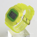 wholesale digital watch made in China stainless steel back watch plastic strap
