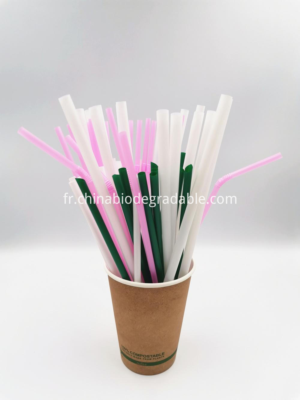 100% Compostable Natural Plant Flexible PLA Eco Straws
