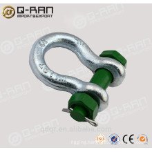 US type drop forged round pin anchor shackle bow shackle 213