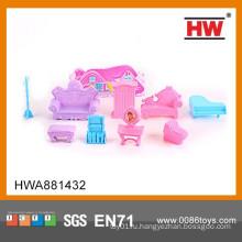 Розовый пластиковый мини игрушки игрушки детского сада Мебель для девочек
