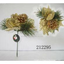 Pinceaux décoratifs de Noël en plastique, ornements