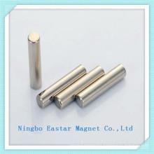 Permanent Cylinder Neodymium Magnet with Nickel Plating