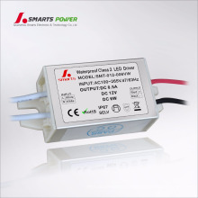 100 / 265vac waterproof o motorista constante do diodo emissor de luz da fonte de alimentação 12v 6w da tensão