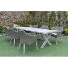 Ensemble de salle à manger design luxueux pour jardin extérieur