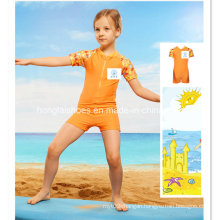 Orange Little Girls Kids Fashion Swimwear