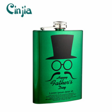 Customized Eco-Friendly Stainless Steel Hip Flask 8oz
