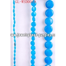 Custom natural stone bead with dyed color