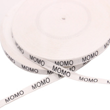 Custom Printed Brand Name Logo Labels Tape Organic Cotton Webbing