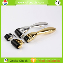 2015 handsome beauty equipment portable 2 in 1 derma roller