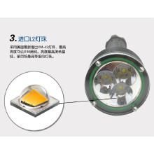 Aluminio llevado linterna de emergencia martillo linterna led de venta al por mayor XM-L2 cree caza policía