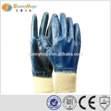 Malha de punho azul flat industrial luvas