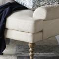 Canapés-lits de tapisserie d'ameublement américain 3 places canapé en tissu design moderne
