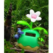 Flores de energia solar de cor verde belo design Lucky Fruit