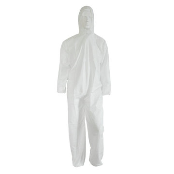 Waterproof White Disposable Buruh Coverall