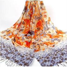 Национальный шерстяной шарф и платок с лентой
