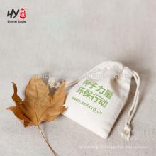 чистый цвет изготовленный на заказ Логос печатая хлопок и льняные мешки