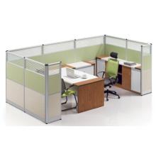 Estação de trabalho de parede de parede de vidro temperado com alto padrão personalizado (HF-LW103)