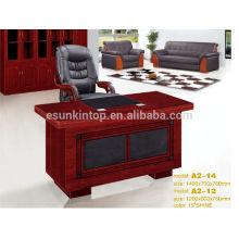 Mesa de escritório moderna de meia rodada de tamanho pequeno de madeira para funcionários