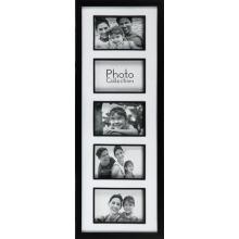 Abertura 6 por 4 marco clásico negro Collage familiar 5