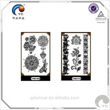 Etiqueta engomada elegante del tatuaje del diseño del cordón, decoración de la novia, atractiva y moda