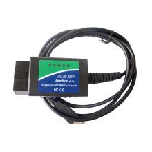 OBD2 USB Elm com proteção de potência Chip ferramenta de diagnóstico