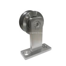 Quincaillerie pour portes coulissantes décoratives en acier inoxydable, montage supérieur