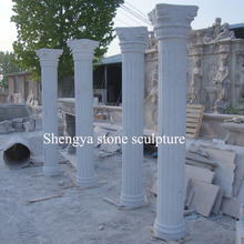 White Marble Stone Sculpture Column for Outdoor Decoration (SY-C012)