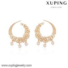92597-Xuping a créé des boucles d'oreilles de manchette de bijoux de conception européenne