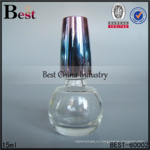 15 мл круглый лак для ногтей бутылки с цветной крышкой ,OEM стеклянный бутылка, пустой стакан лак для ногтей бутылки