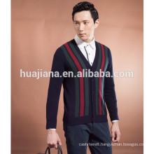 2015 fashion men's cashmere knitting cardigan