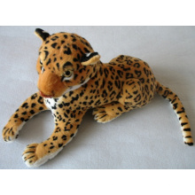 Leopardo, pelúcia, real, vida, animal, pelúcia, brinquedo