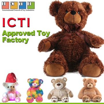 ICTI Aprovado fábrica de Brinquedos Por Atacado Mini Bonito Amarelo Urso De Pelúcia Recheado Personalizado Roupas Pequenas Urso De Pelúcia Brinquedo De Pelúcia Com T Camisas