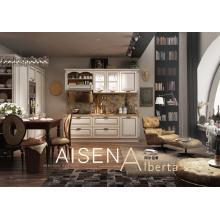 Design de mobilier de cuisine classique en pvc adapté à Villa