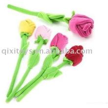 peluche de San Valentín relleno suave juguete de la flor rosa