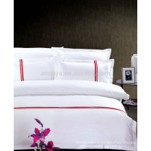 2015 Nouveau produit Poly-Cotton Embroidery Hotel Duvet Cover Literie Set