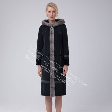 긴 호주 메리노 Shearling Coat for Women