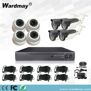 Kit Sistem DVR Rumah Surveillance 8chs 3.0MP