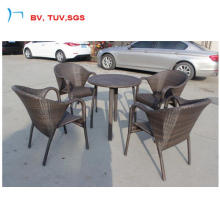 Flat Weaving Mixture Colour Rattan Dining Chair and Table (1883AC)