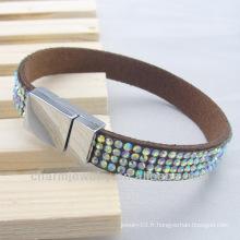 Slake Bracelet Aimant Bracelets à boucle avec strass