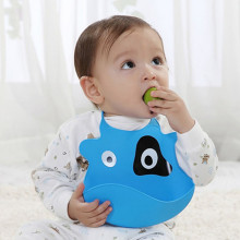 Manufacturer 2016 New Arrival Cute Silicone Baby Bib