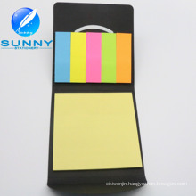 PU Leather Cover Sticky Note, Memo Pad Set for Promotion