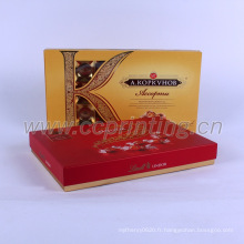 Boîte de papier d'emballage de cadeau de nourriture au chocolat personnalisé